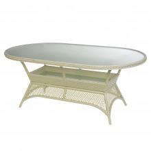 """Овальный стол из искусственного ротанга """"Ажур"""""""