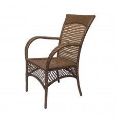 """Плетенное обеденное кресло из искусственного ротанга """"Ажур"""""""